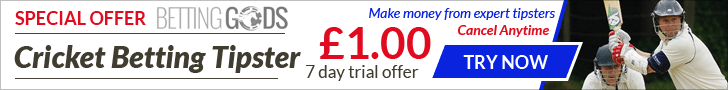 Cricket Betting Tipster has grown a 100 points starting bank by over 168%.